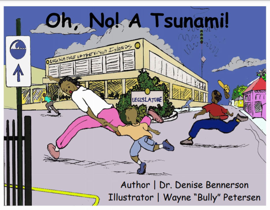 Cover illustration of the book entitled Oh No! A Tsunami!